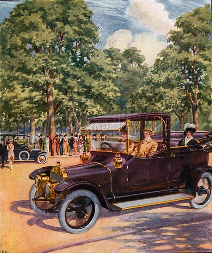 The Straker-Squire car. From London's Social Calendar (Savoy Hotel, c 1915).
