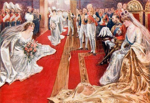 Court Reception. From London's Social Calendar (Savoy Hotel, c 1915).