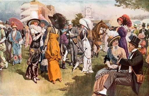 Cup Day at Ascot. From London's Social Calendar (Savoy Hotel, c 1915).