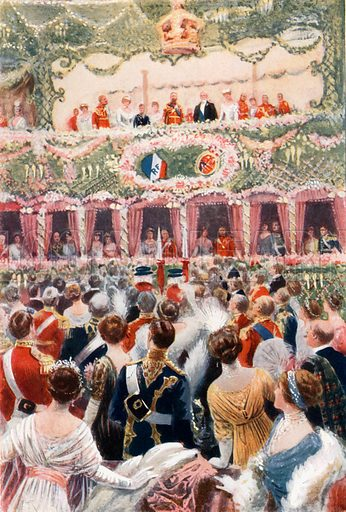 Gala performance at Covent Garden Opera House. From London's Social Calendar (Savoy Hotel, c 1915).