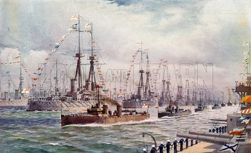 The Naval Review at Spithead. From London's Social Calendar (Savoy Hotel, c 1915).