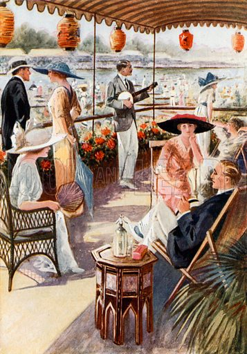 Henley Regatta. From London's Social Calendar (Savoy Hotel, c 1915).