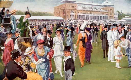 Eton and Harrow Cricket match at Lords. From London's Social Calendar (Savoy Hotel, c 1915).