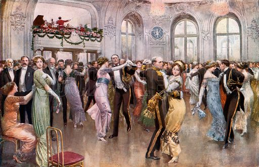 The United States Navy League Ball at the Savoy. From London's Social Calendar (Savoy Hotel, c 1915).