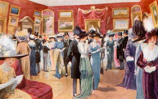 Private View Day at the Royal Academy. From London's Social Calendar (Savoy Hotel, c 1915).