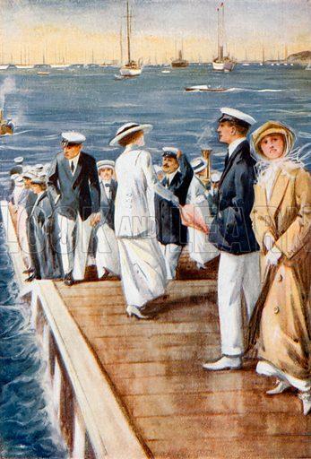 Cowes Regatta. From London's Social Calendar (Savoy Hotel, c 1915).