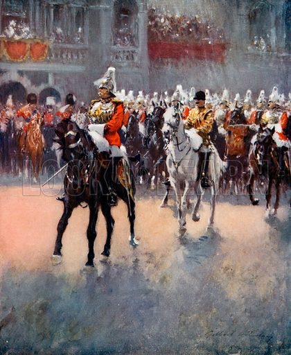 The Trooping of the Colours.  From London's Social Calendar (Savoy Hotel, c 1915).
