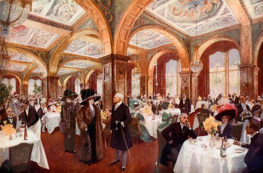 Luncheon at Claridges. From London's Social Calendar (Savoy Hotel, c 1915).
