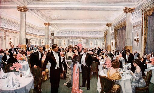 Dining at the Berkeley. From London's Social Calendar (Savoy Hotel, c 1915).