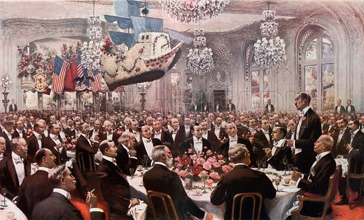 The Pilgrim's Banquet at the Savoy. From London's Social Calendar (Savoy Hotel, c 1915).