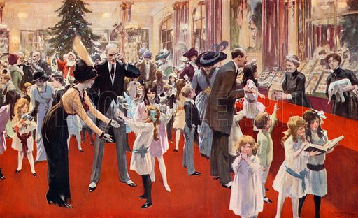 Children's party at the Savoy. From London's Social Calendar (Savoy Hotel, c 1915).