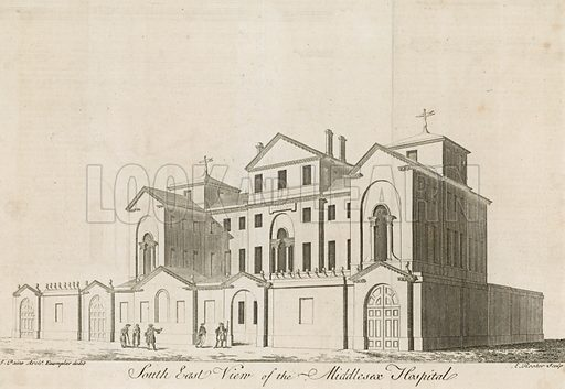 The Middlesex Hospital, near Oxford Street.