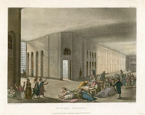 St Luke's Hospital. Published 1809.