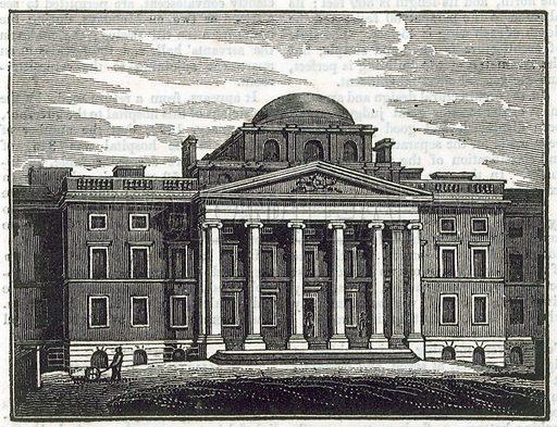 The Bethlehem Hospital. From the Mirror, 1825.