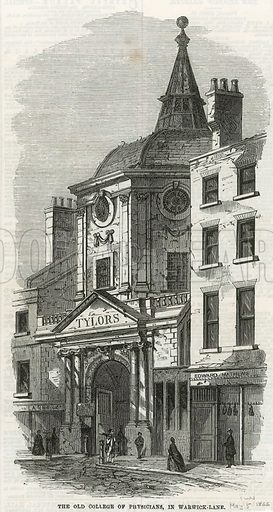 The Old College of Physicians in Warwick Lane. From the Illustrated London News, 5 May 1866.