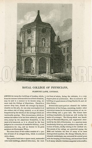 The Old College of Physicians in Warwick Lane.