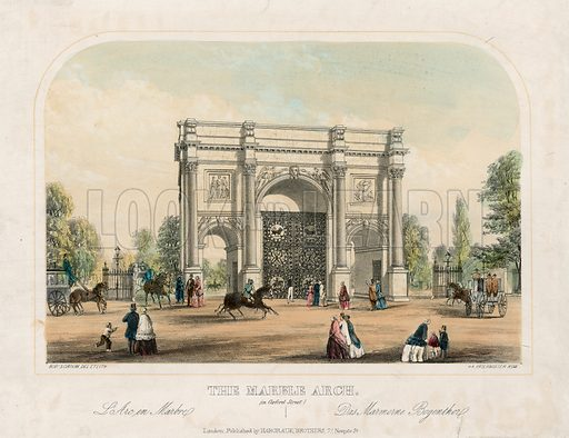 Marble Arch, Oxford Street, London.