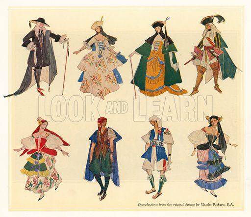 Original designs for The Gondoliers.