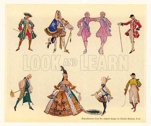 Original designs for The Gondoliers.