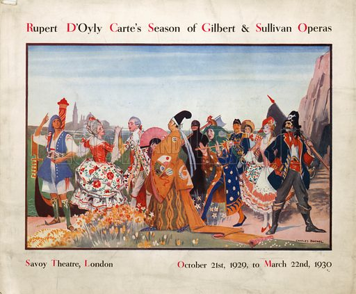 Rupert D'Oyly Carte's Season of Gilbert & Sullivan Operas, 21 October 1929 to 22 March 1930.