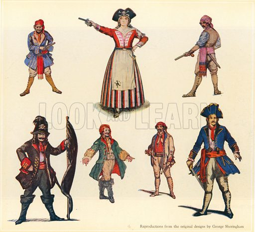 Designs for The Pirates of Penzance.
