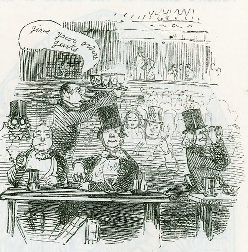 Give your orders, gents. From Punch, 8 May 1847.