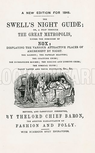 The Swell's Night Guide. Edition of 1846.