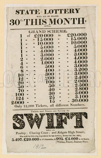 Lottery advertisements.