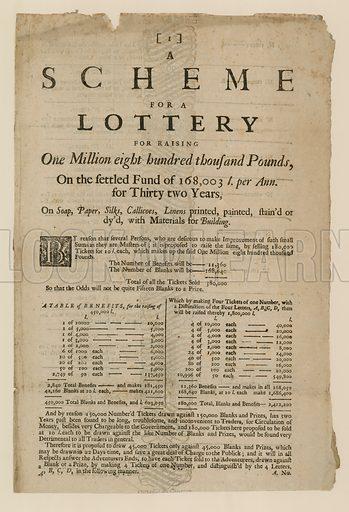 Lottery advertisement.