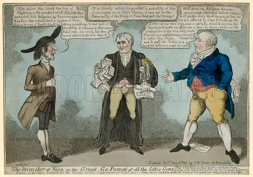 The Minister of Vice. Published 1819.