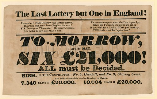 Last lottery but one.