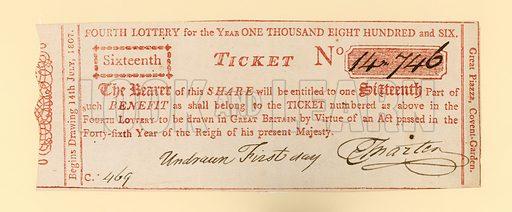 Lottery ticket.