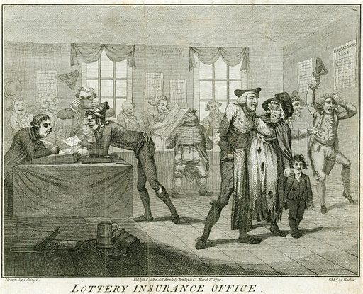 Lottery Insurance Office. Published 1790.