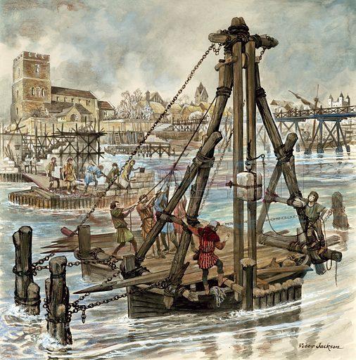 Building of Old London Bridge