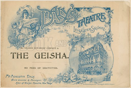 Programme cover for The Geisha.