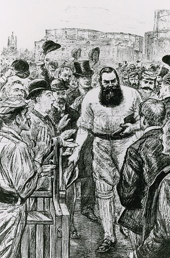 Dr WG Grace applauded as he returns to the Pavillion at Lord's.
