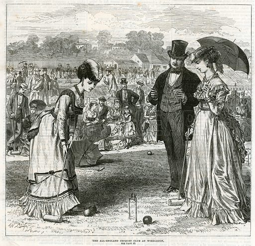 The All-England Croquet Club at Wimbledon. From the Illustrated London News, 9 July 1870.