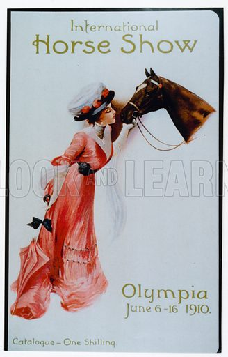 The International Horse Show at Olympia, 1910.