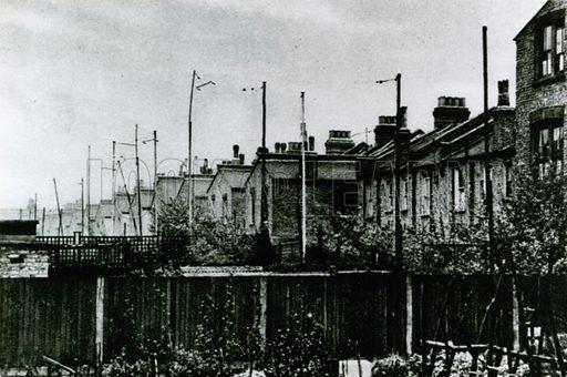Aerials in suburban back gardens, 1925.