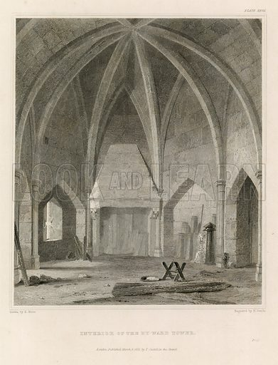 Interior of the By-Ward Tower. Published 1821.