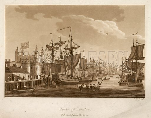 The Tower of London. Published 1799.