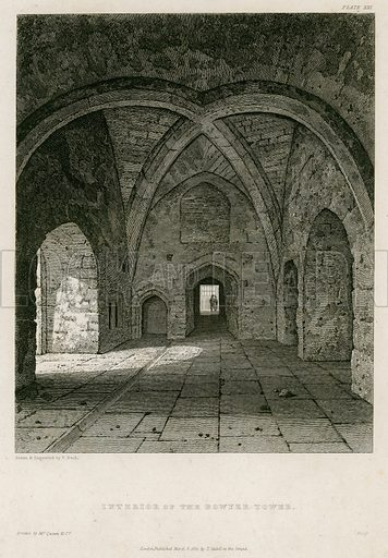 Interior of the Bowyer Tower. Published 1821.