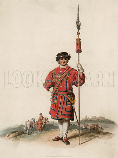 Beefeater. Published 1805.