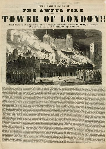 Tower of London Fire, 1841.