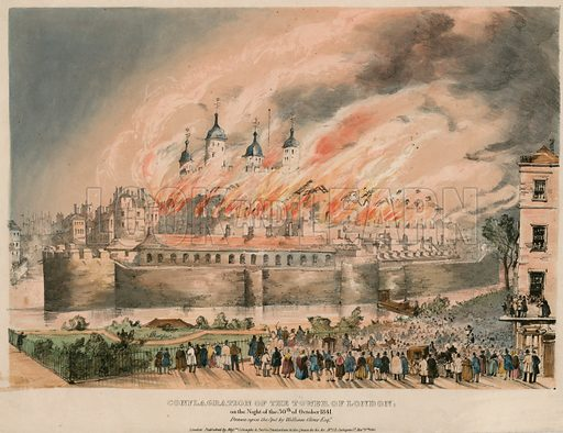 Tower of London Fire, 1841