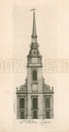 Ludgate Hill. St Martin Ludgate.