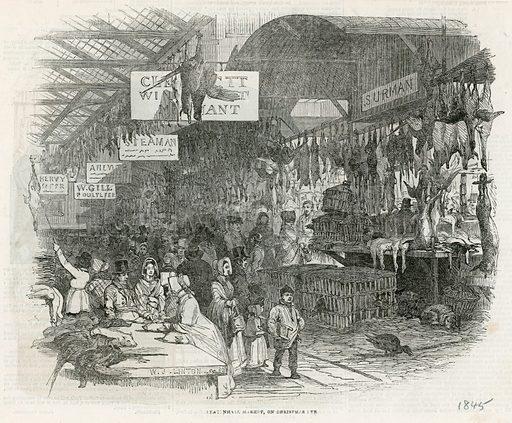 Leadenhall Market on Christmas Eve, 1845.