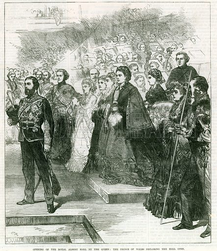 Opening of the Royal Albert Hall by Queen Victoria. From the Illustrated London News, 8 April 1871.