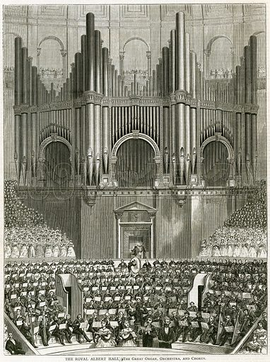 The Great Organ at the Royal Albert Hall. From the Illustrated London News, 1 April 1871.