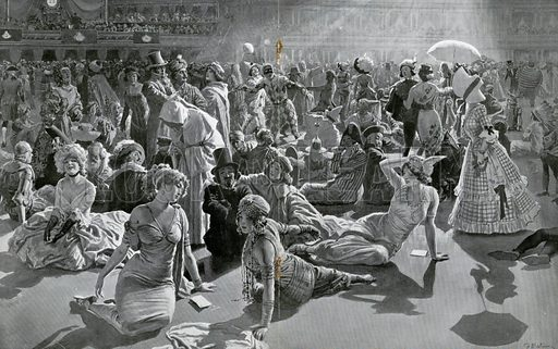 The Chelsea Arts Club Costume Ball at the Albert Hall, London. Resting between Dances. From the Sphere, 16 March 1912.